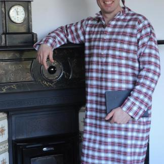 Gleneske Tartan Irish Nightshirt Dress Stewart