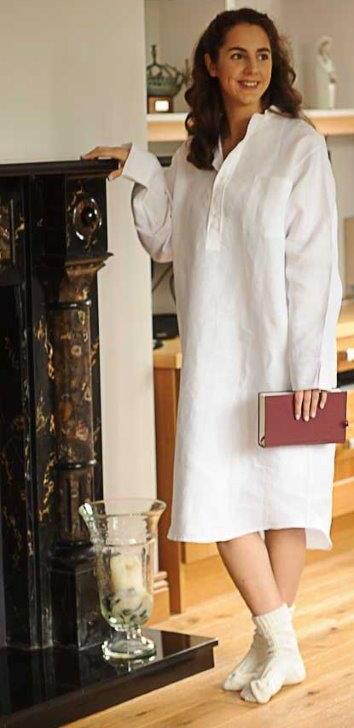 Ladies Irish Linen Nightshirt