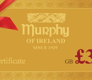 Murphy of Ireland £300 Gift Certificate