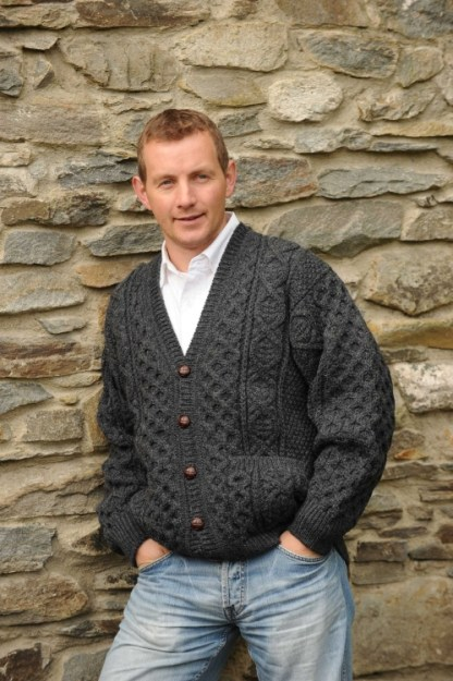 Derryveagh Cardigan Sweater Charcoal Grey