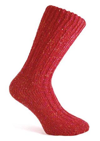 Donegal Tweed Sock - Burgundy