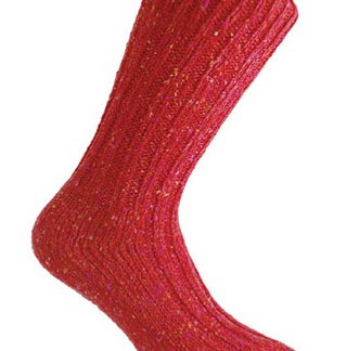 Donegal Tweed Sock - Burgundy
