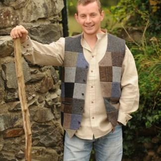 Glengesh Patchwork Tweedback Waistcoat