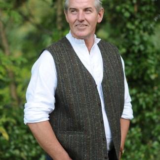 Glengesh Tweedback Waistcoat Claddagh Green
