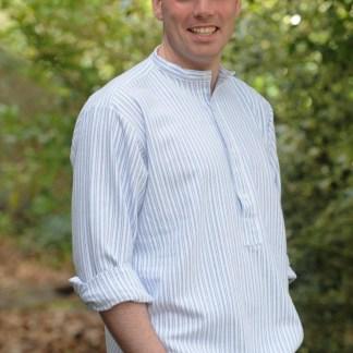 Gleneske Irish Grandfather Shirt Classic Blue