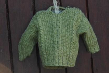 Little Legacy Aran Sweater Celtic Green