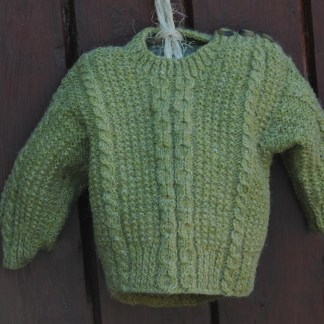 Little Legacy Aran Sweater Celtic Green