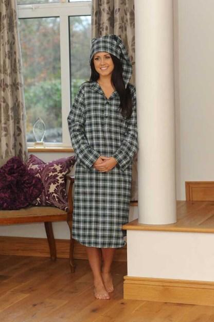 Gleneske Tartan Ladies Irish Nightshirt Dress Gordon