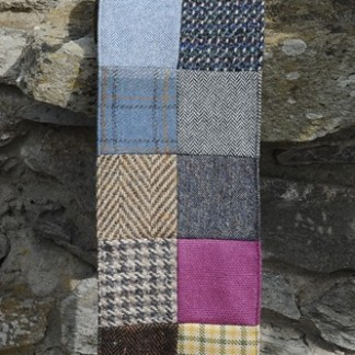 Patchwork Donegal Tweed Scarf