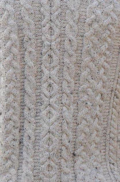 Killybegs Mens Aran Sweater Detail