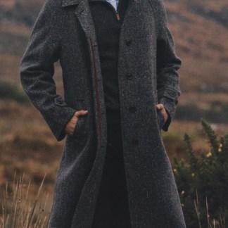 Connemara Tweed Overcoat Charcoal Fleck