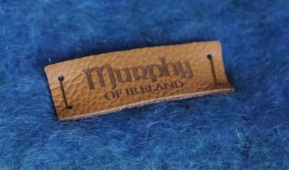 Bantry Bay Blue Mohair Throw Detail