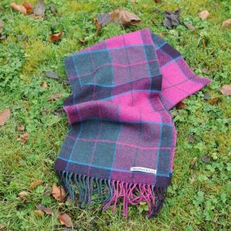 Mulberry Check Tweed Scarf