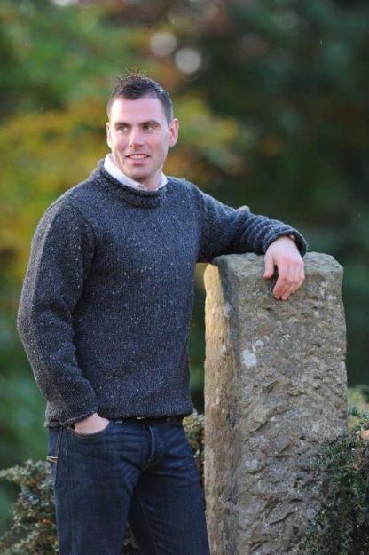 Carrick Aran Sweater Charcoal