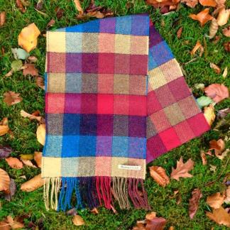 Glen Check Tweed Scarf