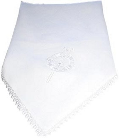 Irish Linen Christening Blanket Tara Brooch