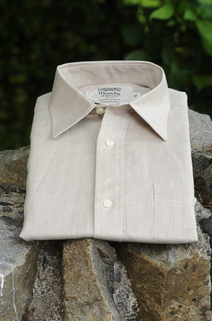 Irish Linen Sunday Shirt Oatmeal