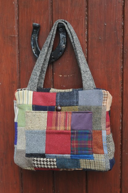 Joyce Patchwork Tweed Bag