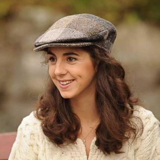 Ladies Country Check Tweed Cap