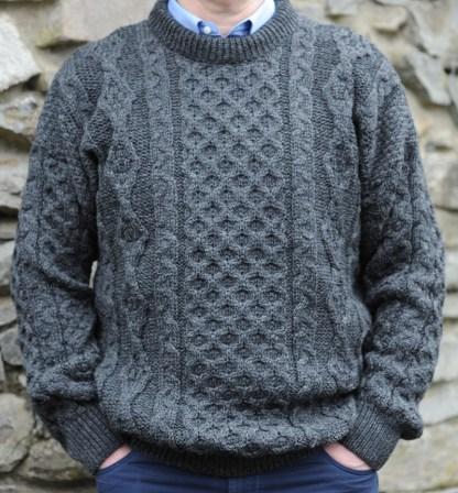 Legacy Aran Sweater Storm Grey