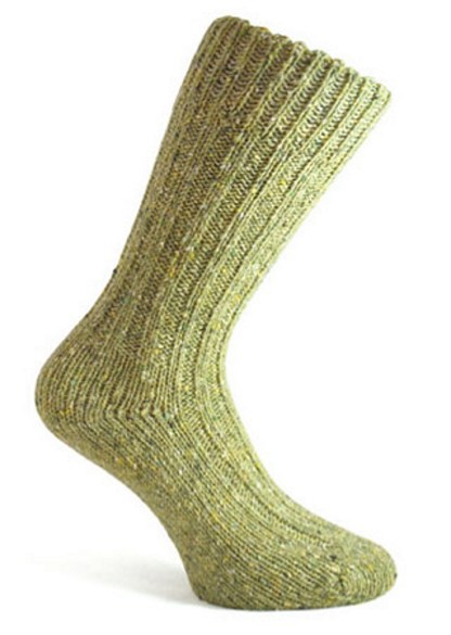 Donegal Tweed Sock Olive Green