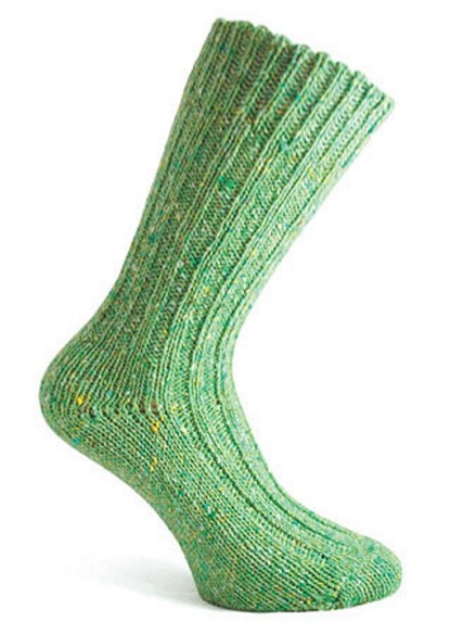 Donegal Tweed Sock Sea Green
