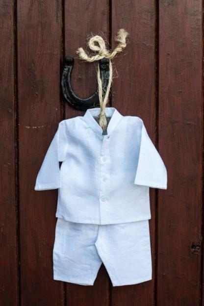 Irish Linen Grandad Shirt Pullups 8876