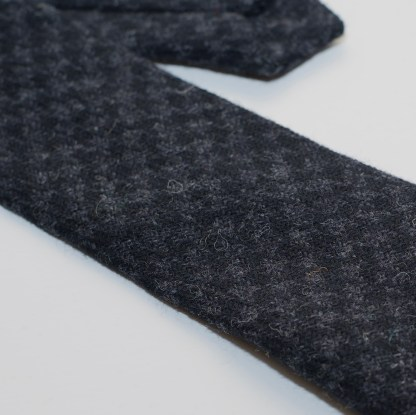 Donegal Tweed Tie Slate Grey Check
