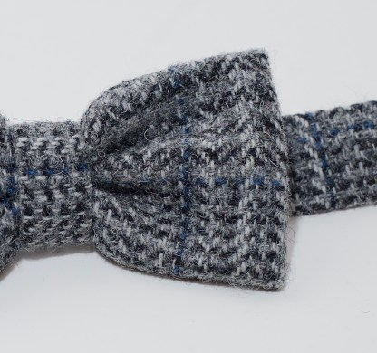 Donegal Tweed Bow Houndstooth - Grey