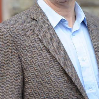 Kinvara Herringbone Donegal Tweed Jacket