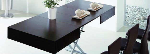 coffee to dining table - space saving table transforms and extends