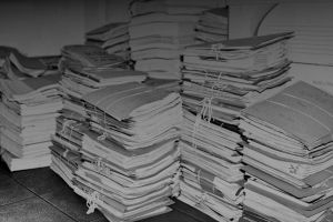 Stacks of file folders