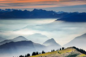 clouds, cloud bank, light snowfall
