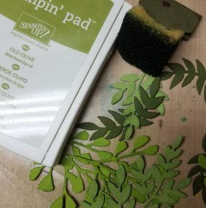 Supplies for wreath background foliage