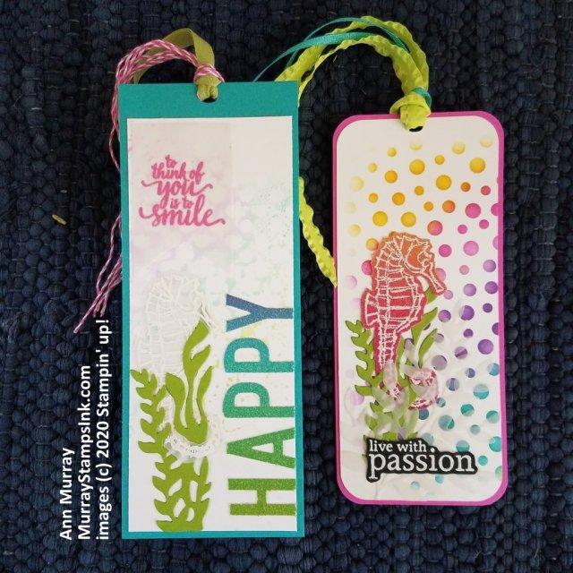 Seahorse themed bookmark
