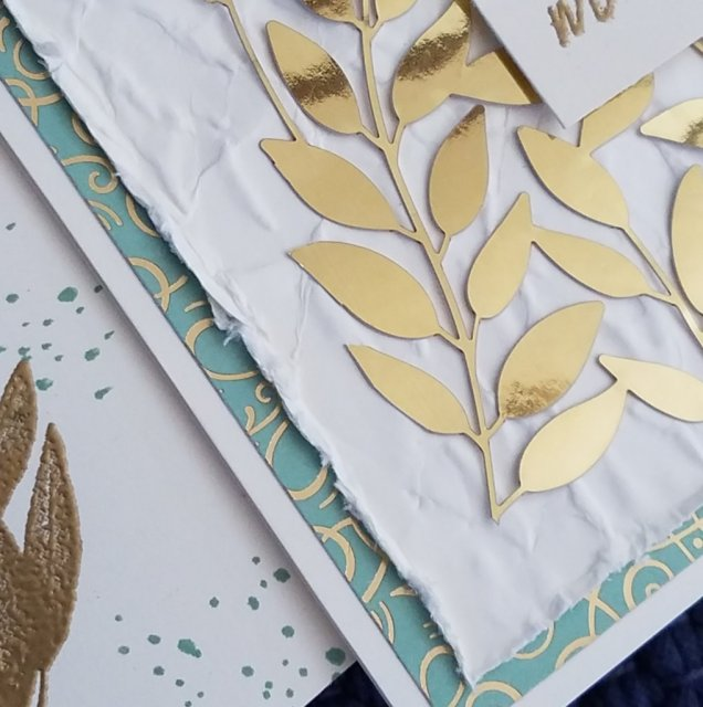 gold foil and gold embossing