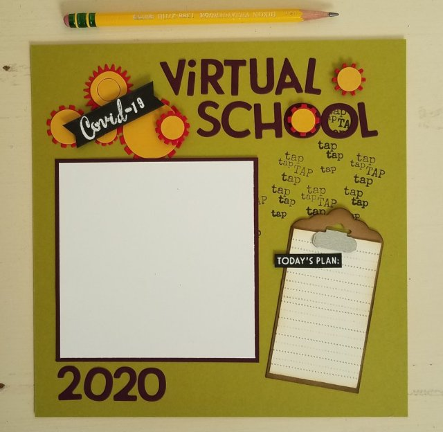 covid-19 virtual school scrapbook page
