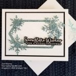 Simple Snowflake Wishes card with Pizzazz