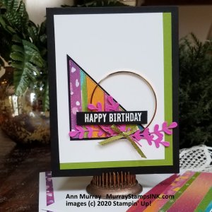 Right Triangle with gold hoop and birthday greeting