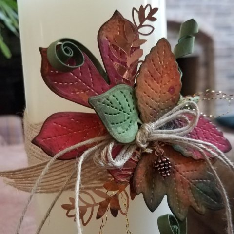 autumn leaves for candle band