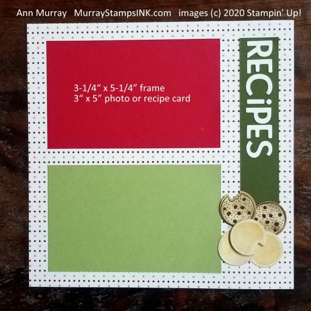 cookie recipes scrapbook page