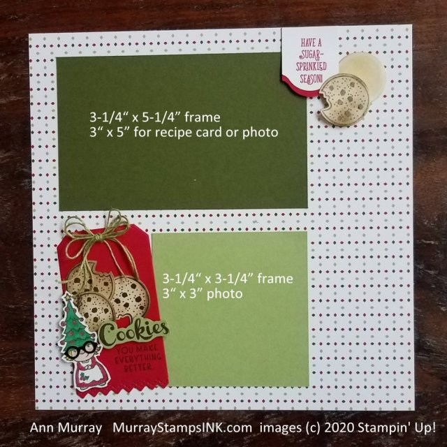 gnome cookie baker on scrapbook page