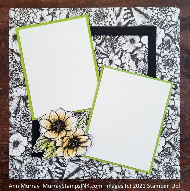 """scrapbook page for 2 3""""x4"""" photos"""