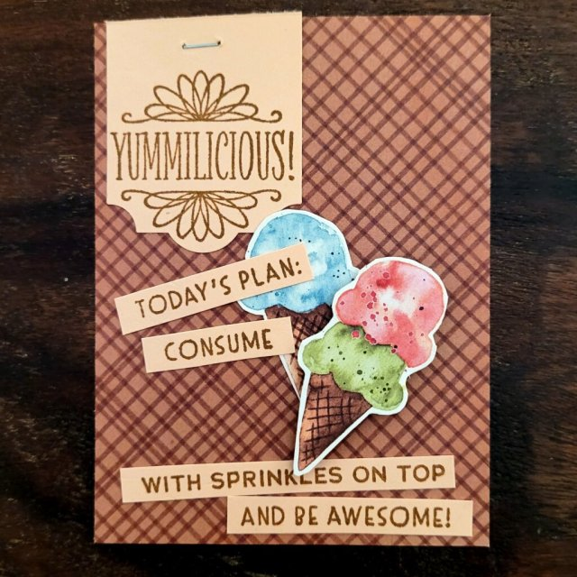 pocket scrapbooking card for ice cream day