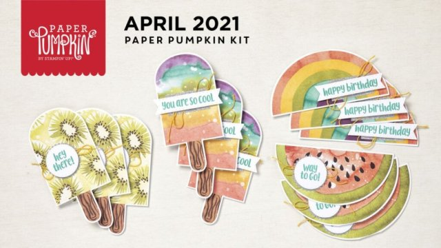 Paper Pumpkin April 2021 So Cool cover page