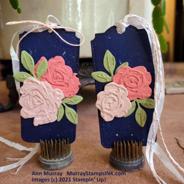 navy tags with layer blooms