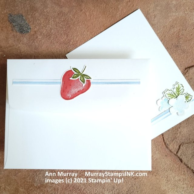 Sweet Strawberry envelope and message insert