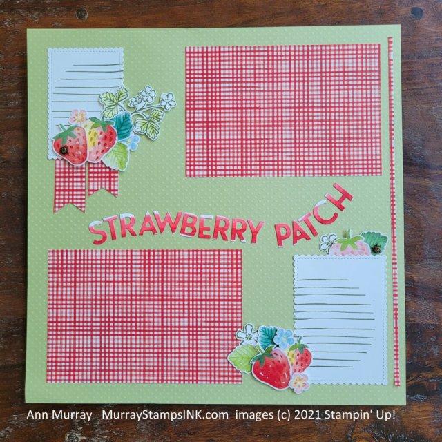 Strawberry theme scrapbook layout