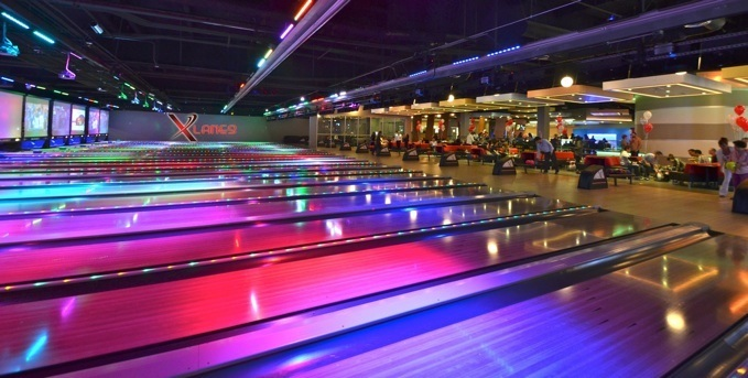 New bowling alley construction
