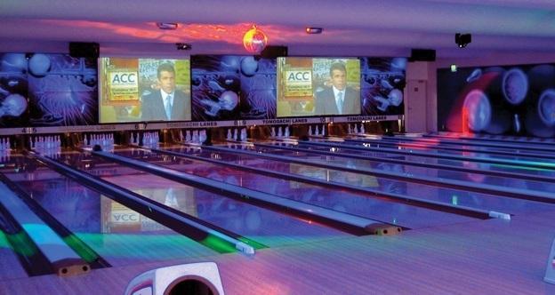 Bowling Alley Big Screens And Projectors
